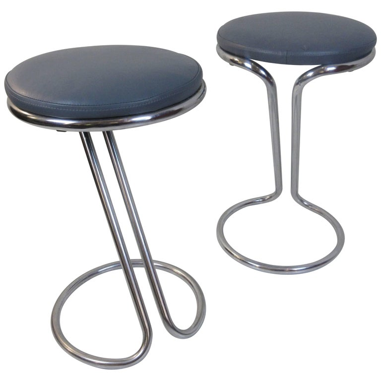 Z Chrome Counter Bar Stool By Gilbert Rohde For Troy
