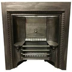 Antique Victorian 19th Century Coalbrookedale Hob Grate Fireplace Insert