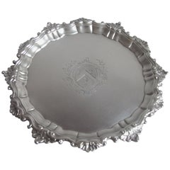 Good George II Salver Made in London in 1754 by Thomas Robinson