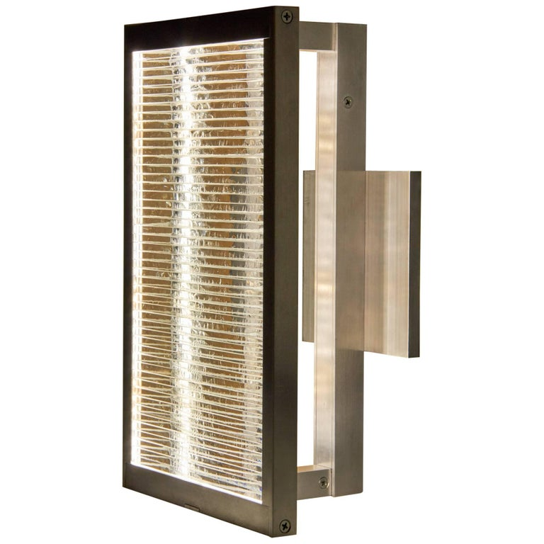 Glass and Aluminum Contemporary LED Light Wall Sconce