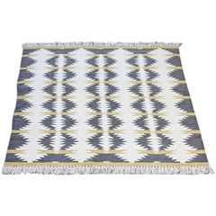 Swedish Handwoven Wool Carpet Rölakan Double Weave