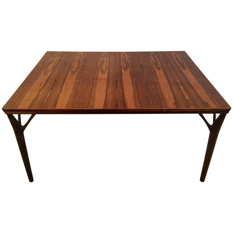 Stunning Rosewood Dining Table, Helge Vestergaard Jensen, Denmark, circa 1957
