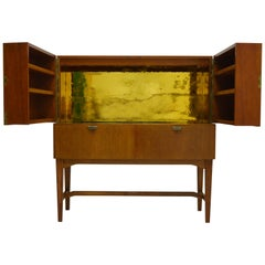 NK Bar Cabinet with Golden Mirror Inside, circa 1950s