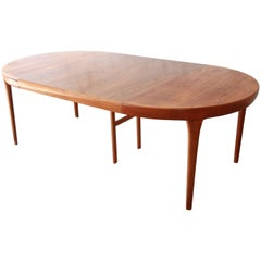 Ib Kofod Larsen for Faarup Danish Modern Teak Extension Dining Table
