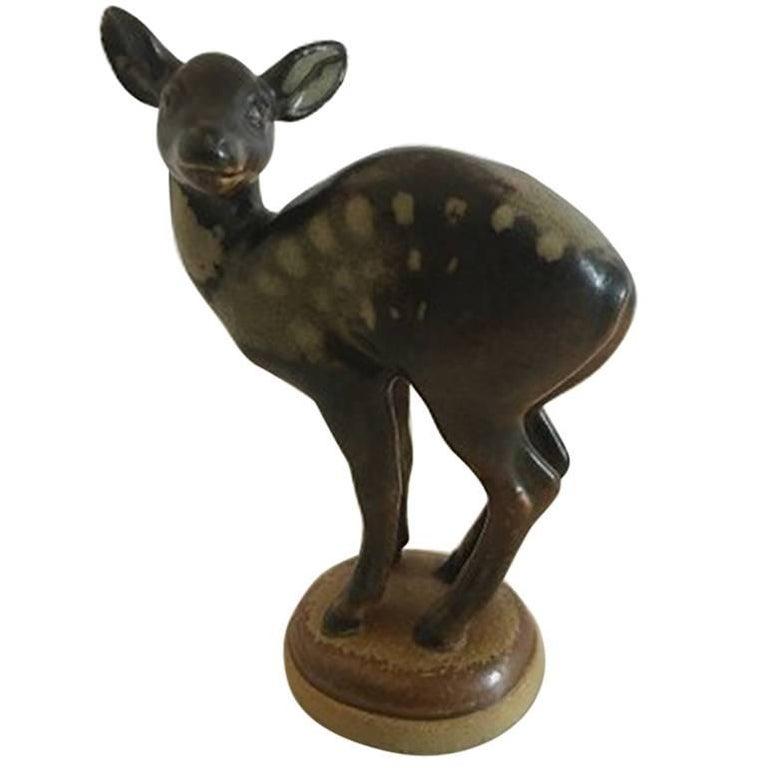 Bing & Grondahl Figurine of Deer on Base #1929 For Sale