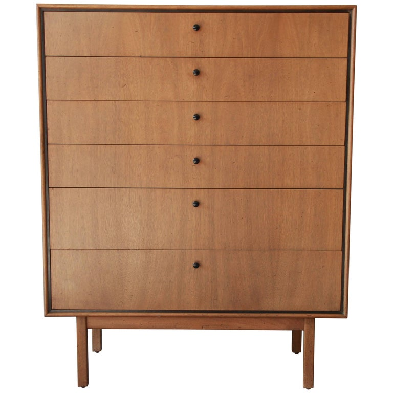 Jack Cartwright for Founders Mid-Century Modern Highboy Dresser