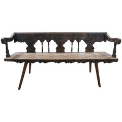 Late 19th Century Rustic French Bench