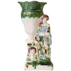 Creamware Gardener Vase, Ralph Wood Jr, circa 1770