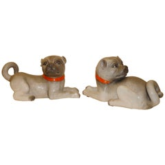 Pair of Fine Lively Modeled Porcelain Dogs