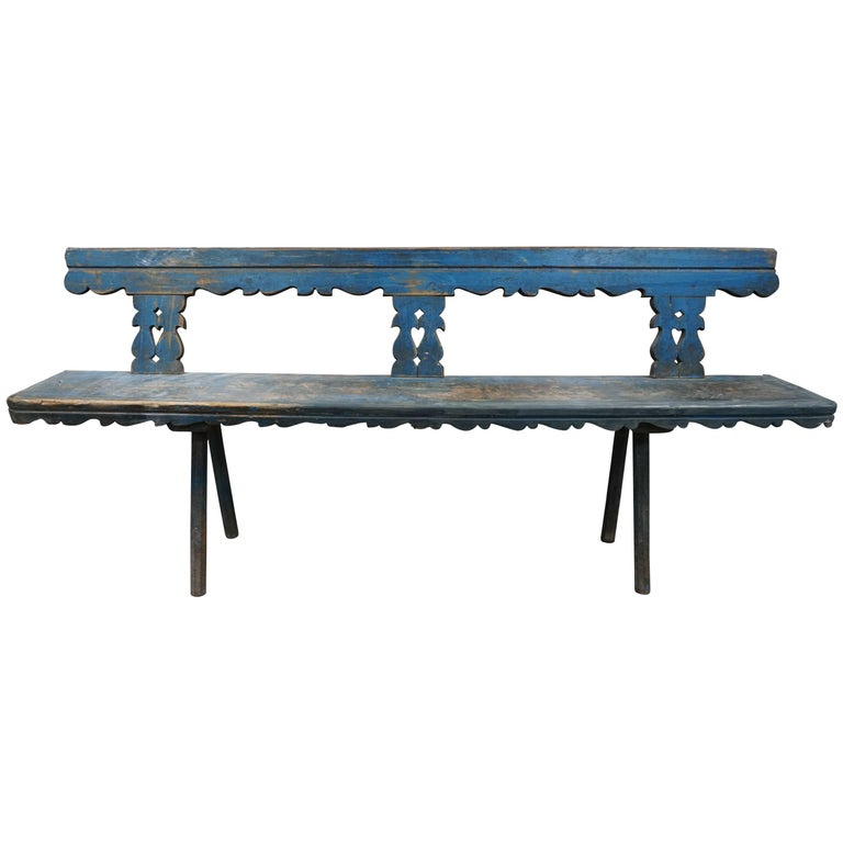 Early 20th Century Rustic French Bench