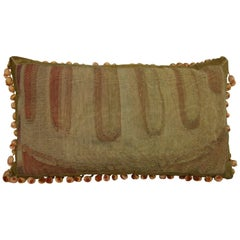Antique Brussells Tapestry Pillow, circa 17th Century 1410p