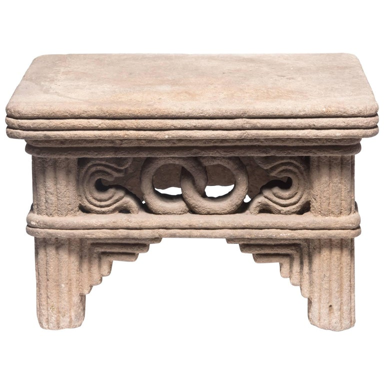 Early 17th Century Ming Interlocking Ring Stone Table