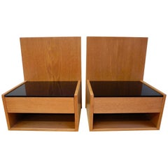 Pair of Danish Modern Teak Nightstands Designed by Hans Wegner