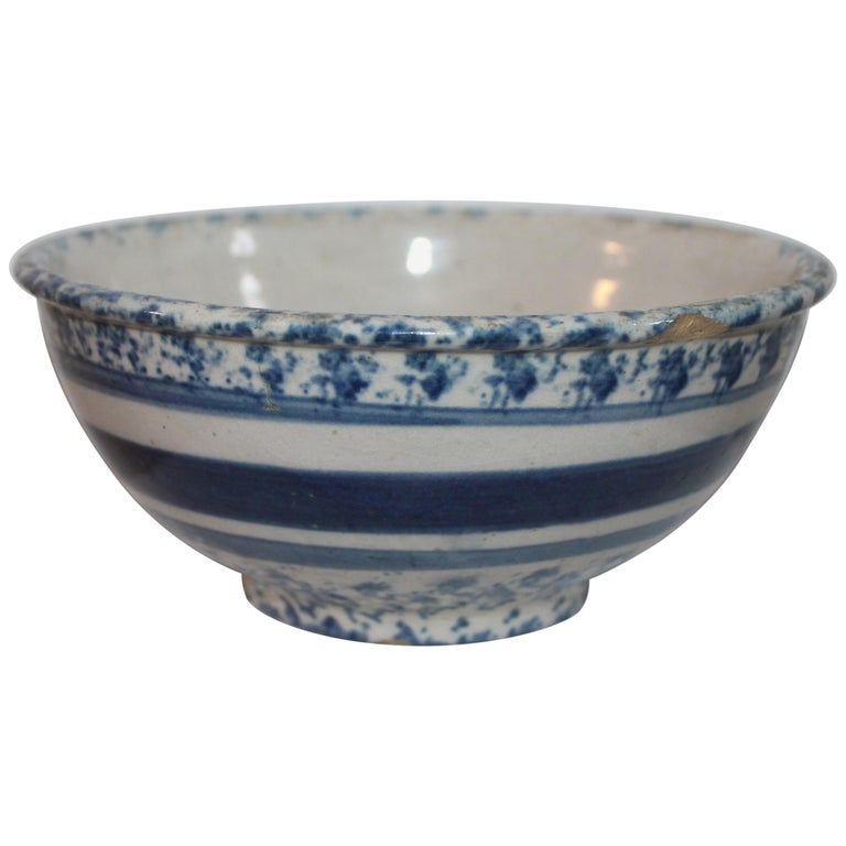 19th Century Spong Ware Bowl For Sale