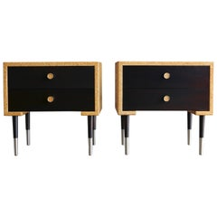 Pair of Cork Nightstands by Paul Frankl for Johnson Furniture Co