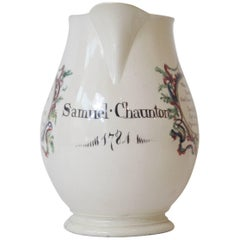 Dated Creamware Jug, Leeds, 1784