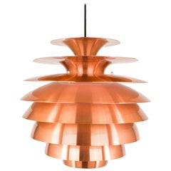 Copper Multi Shaded Barcelona Pendant by Lyfa, 1970s