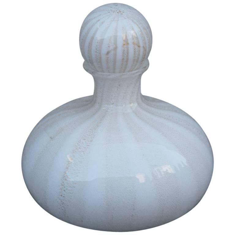 Glass Bottle of Murano from the 1970s Tommaso Barbi Design