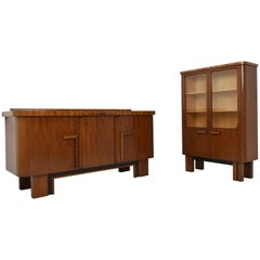 Art Deco Sideboard and Vitrine from 1930