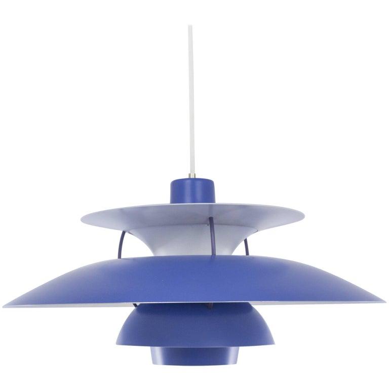 Blue PH 5 Pendant by Poul Henningsen for Louis Poulsen, 1950s