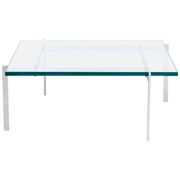 1950s Poul Kjaerholm 'PK61' Coffee Table for EKC For Sale