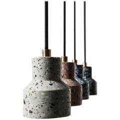 Tu, Terrazzo and Concrete Pendant Lamp, Black or White
