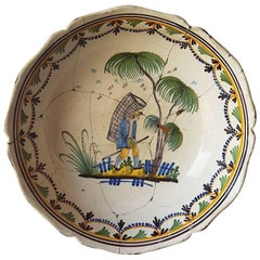 18th Century French Faience Earthenware Bowl
