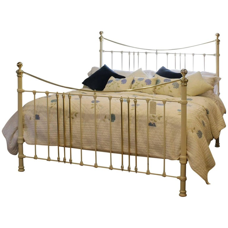 Cream Brass and Iron Bed, MSK45