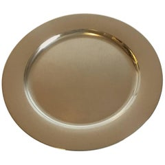 12 Georg Jensen Sterling Silver Charger or Plate by Henning Koppel No 1074