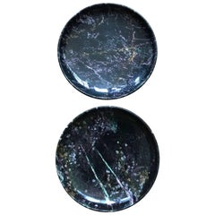 Pair of Black Marble Italian Centerpiece Bowls by Up & Up