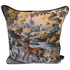 19th Century German Tapestry Fragment with Hunting Scene
