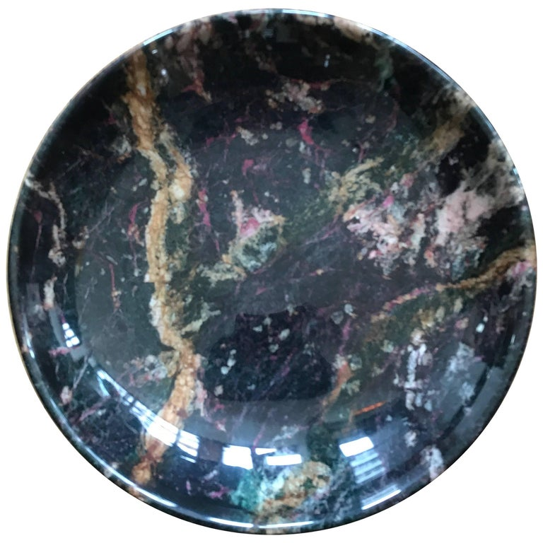 Italian Black Marble Bowl Centrepiece by Up & Up