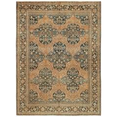 Antique Neutral Earth Tone Color Persian Khorassan Rug