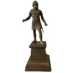 19th Century Brass Figural Statue of a Viking