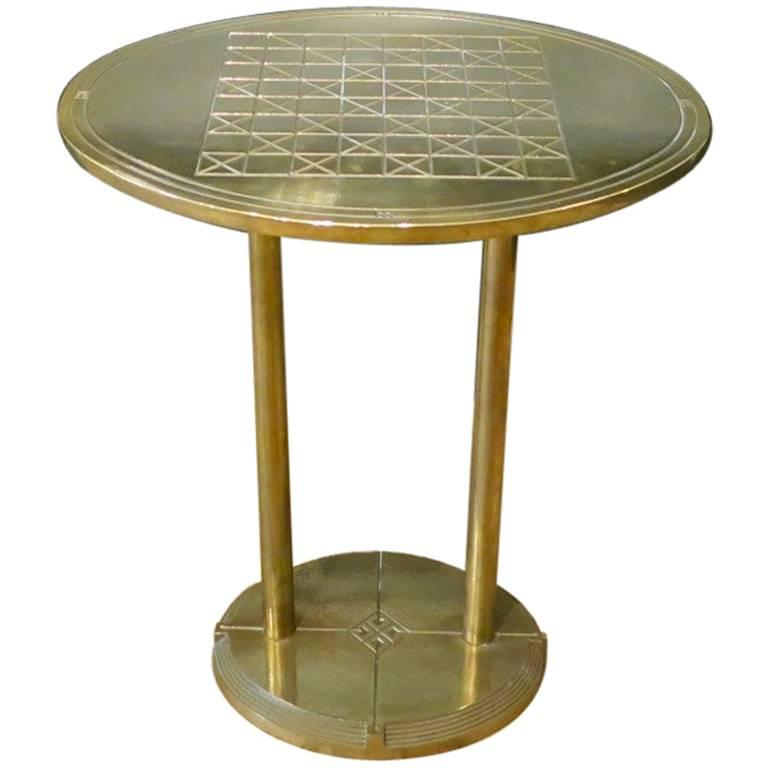 Brass Peter Ghyczy Side Table/Chess Table