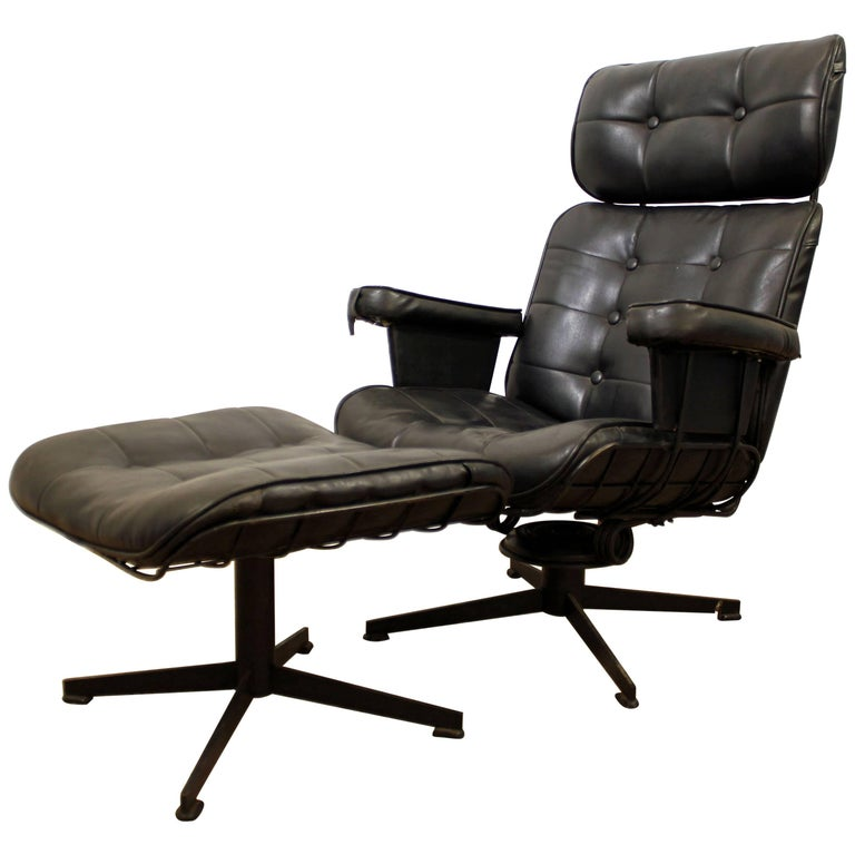 Homecrest Bottemiller Lounge Chair B99T and Ottoman B610