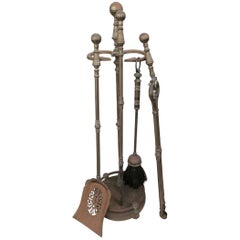 Pair Of Rustic Fireplace Tools By Seymour Circa 1940 American At 1stdibs