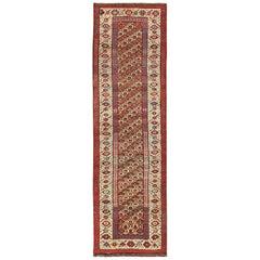 Antique Tribal Persian Kurdish Runner Rug