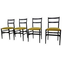 "Gio Ponti Set of Four Chairs Model ""Leggera"", Italy, 1951"