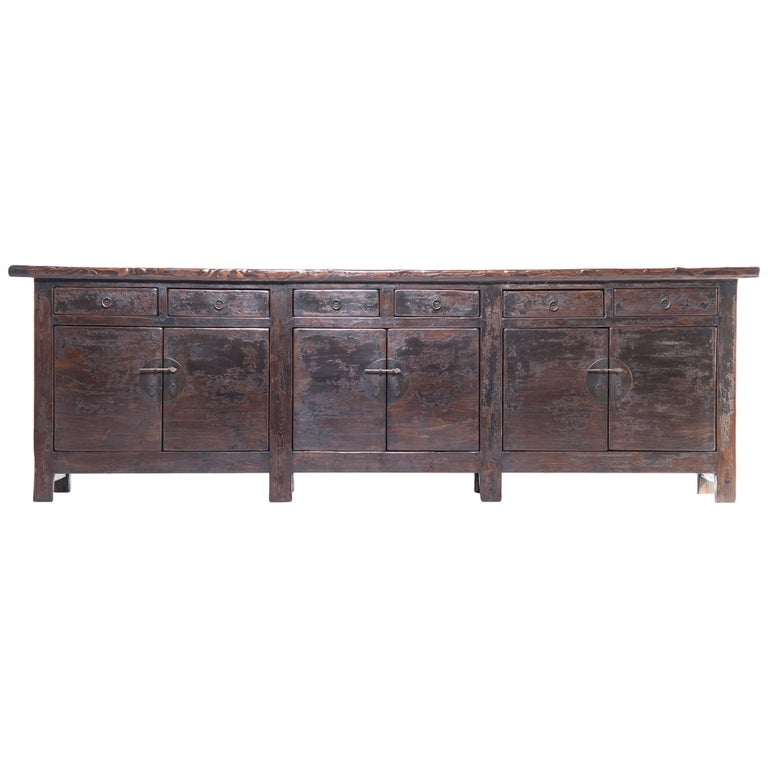 19th Century Chinese Monumental Provincial Storage Coffer