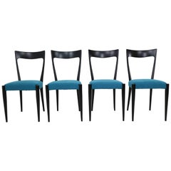 Set of Four Italian Dining Chairs by Melchiorre Bega 1950s