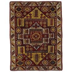 Vintage Turkish Oushak Accent Rug, Entry or Foyer Rug