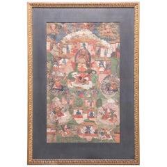 19th Century Tibetan Vaishravana Thangka