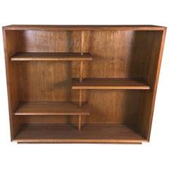 Mid-20th Century Walnut Wood Display Shelving Unit