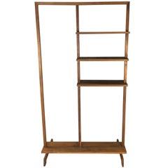 Mid-20th Century Walnut Wood Display Shelf