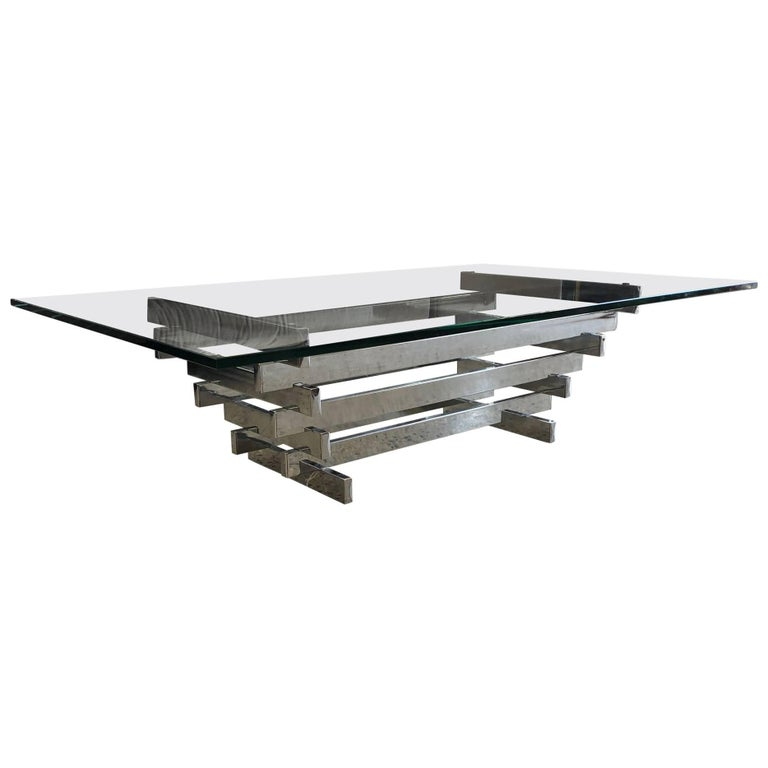 """David Hicks Stacked """"Sculpture"""" Table, circa 1960s For Sale"""