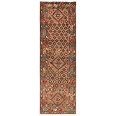 Tribal Antique Persian Bakshaish Runner Rug