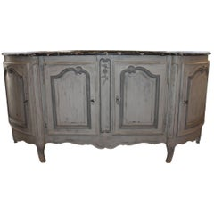 Louis XV Painted Provinical Enfilade with Faux Painted Marble Top