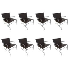 HBF Hickory Business Furniture Eight-Lounge Chairs in Leather and Steel