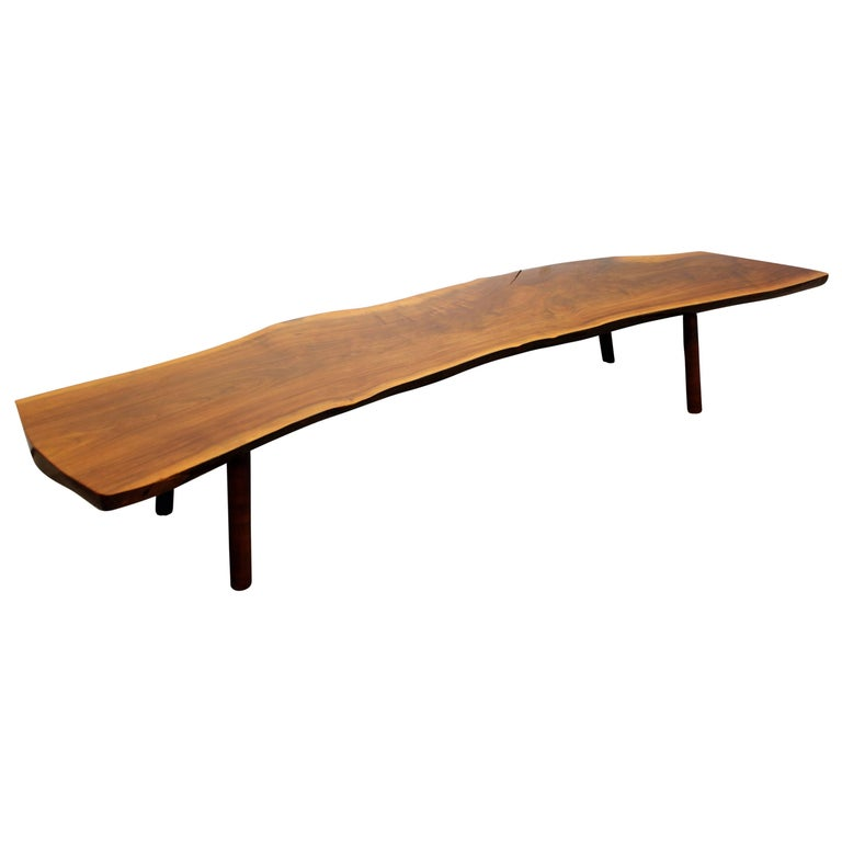 Mid Century Modern Tree Slab Coffee Table For Sale At 1stdibs: Tree Trunk Coffee Table By Reynolds Of Ludlow In The Style
